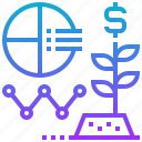analysis, business, finance, growth, progression icon
