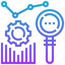 analysis, data, graph, research, statistic icon