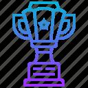 achievement, prosperity, success, triumph, trophy