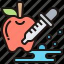 apple, biochemistry, biotechnology, dropper, science