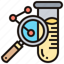 laboratory, magnifying, molecule, test, tube icon