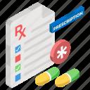 medical document, medical recipe, medication, medicine report, prescription icon
