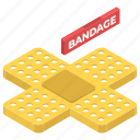 adhesive, band aid, bandages, patch, sticking plaster icon