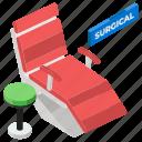 dental checkup, dental clinic, dental treatment, dental unit, dentist chair, surgical chair icon