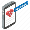 medical app, health app, mobile health, heartbeat, healthcare app, mobile app icon