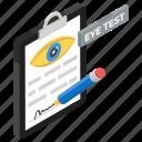 eye exam, eye test, eyesight checkup, ophthalmologist, vision test icon