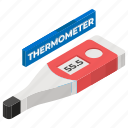 clinical thermometer, digital thermometer, medical gadget, mercury thermometer, thermometer icon