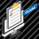 claim form, insurance claim, medical form, online claim, online form