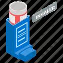 asthma inhaler, breathe inhalator, inhaler, medical equipment, metered dose icon