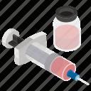 immunization, injection, medication, syringe, vaccine icon