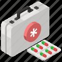 emergency kit, first aid box, first aid kit, medicine box, pills case, tablet box icon