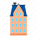 building, apartment, house, edifice, architecture, residential, mansion icon