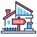 building, house, real estate, sale icon