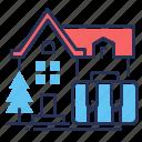 accomodation, house, moving, suitcase icon