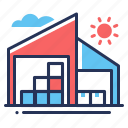 boxes, buildings, storage, warehouses icon
