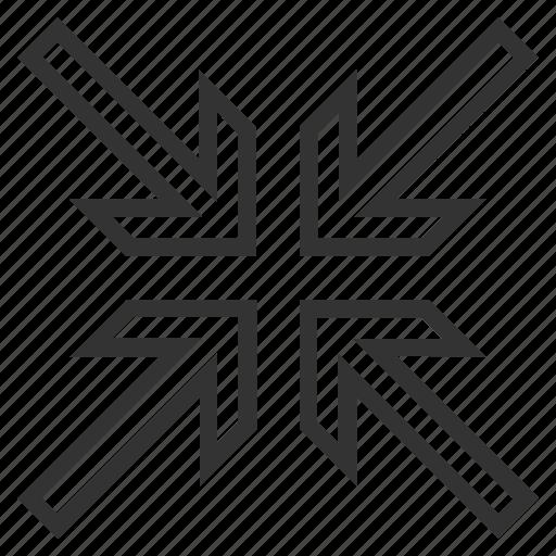 compact, compress arrows, compression, implode, minimize, pressure, reduce icon