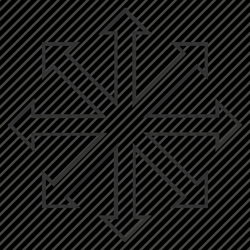 direction, expand arrows, full screen, fullscreen, increase, maximize, resize icon