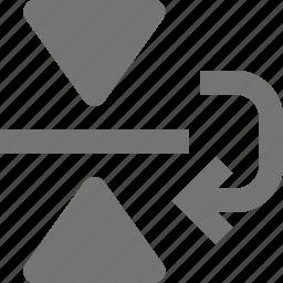 arrow, copy, down, reflect icon