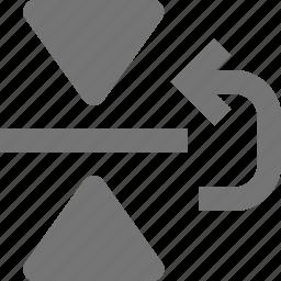 arrow, copy, reflect, up icon