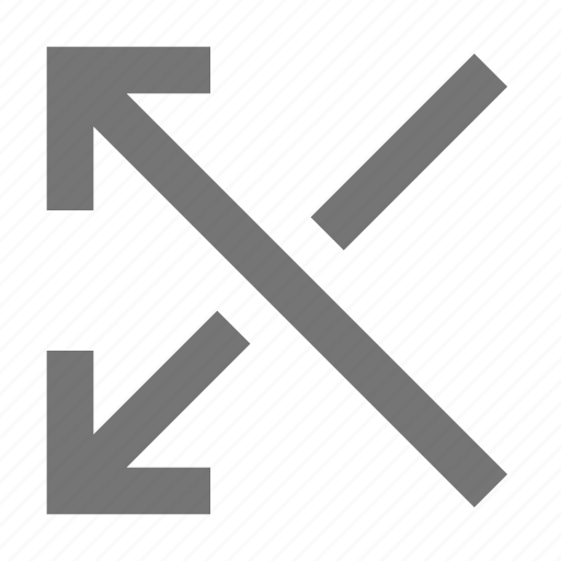arrows, cross, over icon