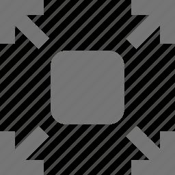 arrows, expand icon