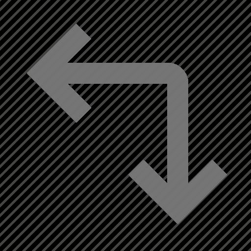 arrows, corner, expand icon