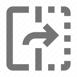 arrow, flip, right icon