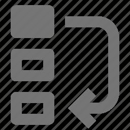 arrow, bottom, move icon