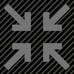 arrows, shrink icon