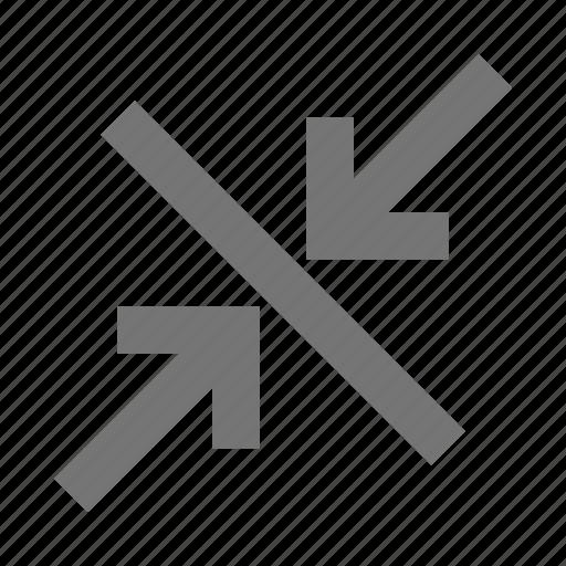 arrows, diagonal, shrink icon