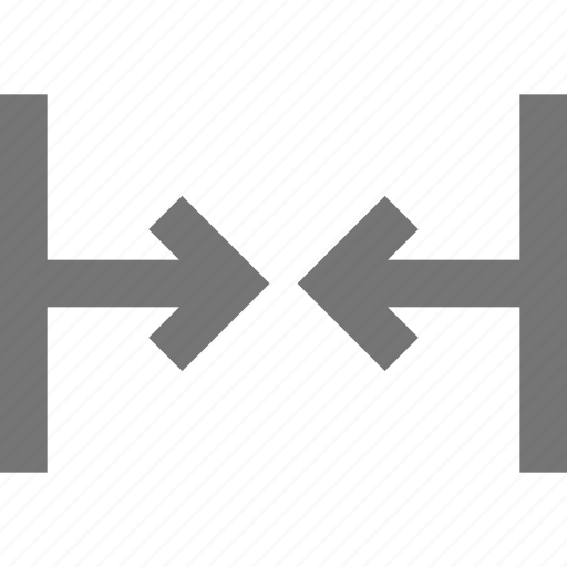 arrows, horizontal, shrink icon
