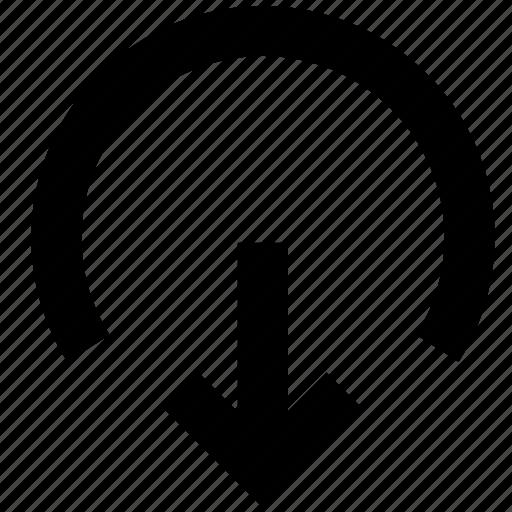 arrow, output icon