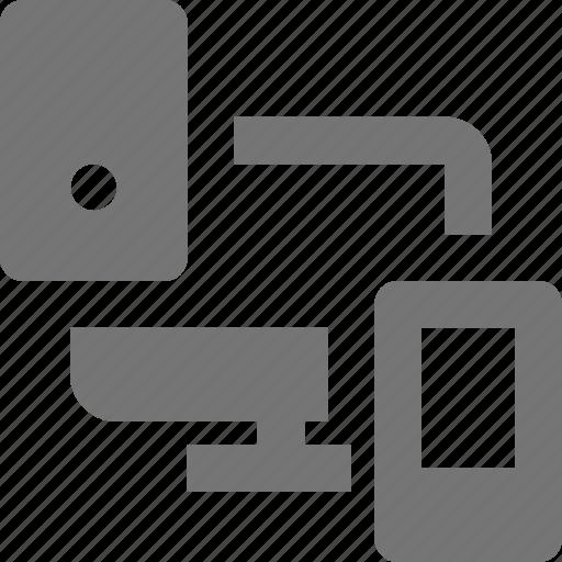 computer, design, device icon