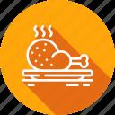 chicken, dish, food, leg, restaurant icon