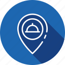 food, location, restaurant, sine icon