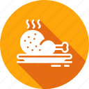 chicken, dish, food, leg, restaurant icon