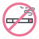 cigarette, no, smoking, tobacco icon