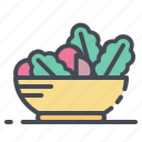 food, healthy, salad, vegetables, vegetarian icon