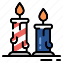 birthday, candles, romantic, supper icon