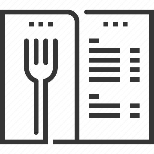 Cutlery, food, list, meal, menu, restaurant, sq602 icon - Download on Iconfinder