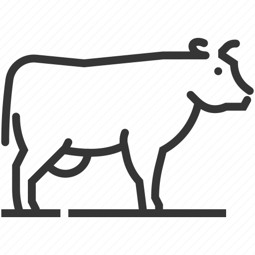 animal, cow, farming, mammal, meat, sq616 icon