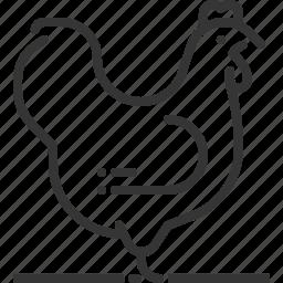 animal, bird, chicken, farming, meat, sq618 icon