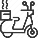 call, delivery, fast food, motorcycle, restaurant, scooter, serve icon