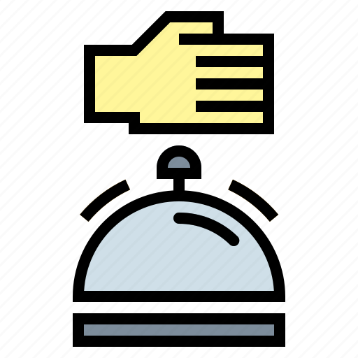 bell, calling, notification, restaurant, ring icon