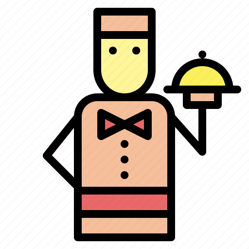 barman, job, occupation, people, restaurant, waiter icon