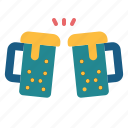 alcohol, cheers, drinks, food, glasses, party, restaurant icon