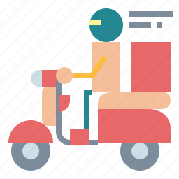 and, delivery, food, motorbike, transport, transportation icon