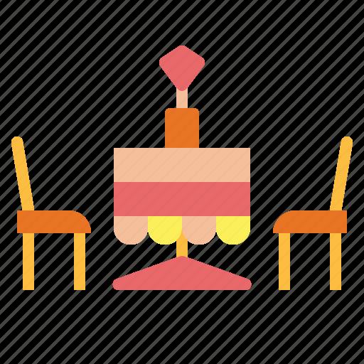 dinner, love, restaurant, table icon