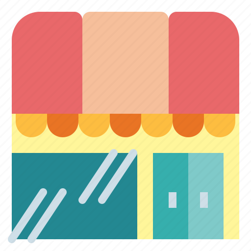 buildings, coffee, restaurant, shop, store icon