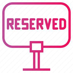 dinner, lunch, reserved, restaurant, sign icon